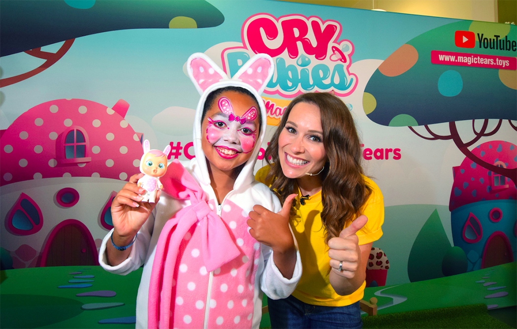 Tiana and Jen Pringle at the launch of IMC Toys' Cry Babies Magic Tears