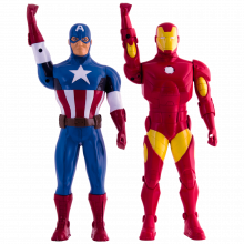 AVENGERS WALKIE TALKIE FIGURES IRON MAN & CAPITAIN AMERICA